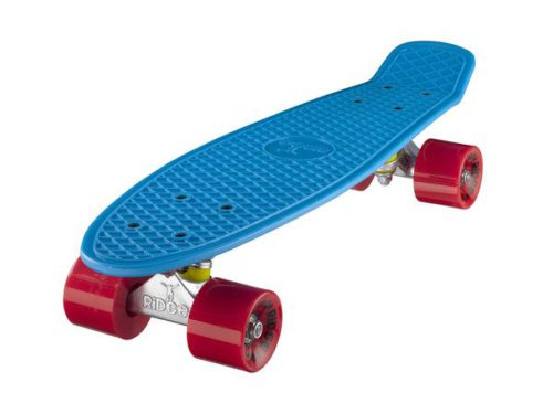 "Monopatines Ridge Mini Cruiser 22"" - azul y rojo"
