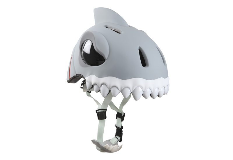 Casco Infantil de animales Crazy Safety - Tiburón Gris