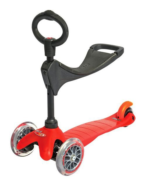 Patinete Mini-Micro 3 en 1 Rojo