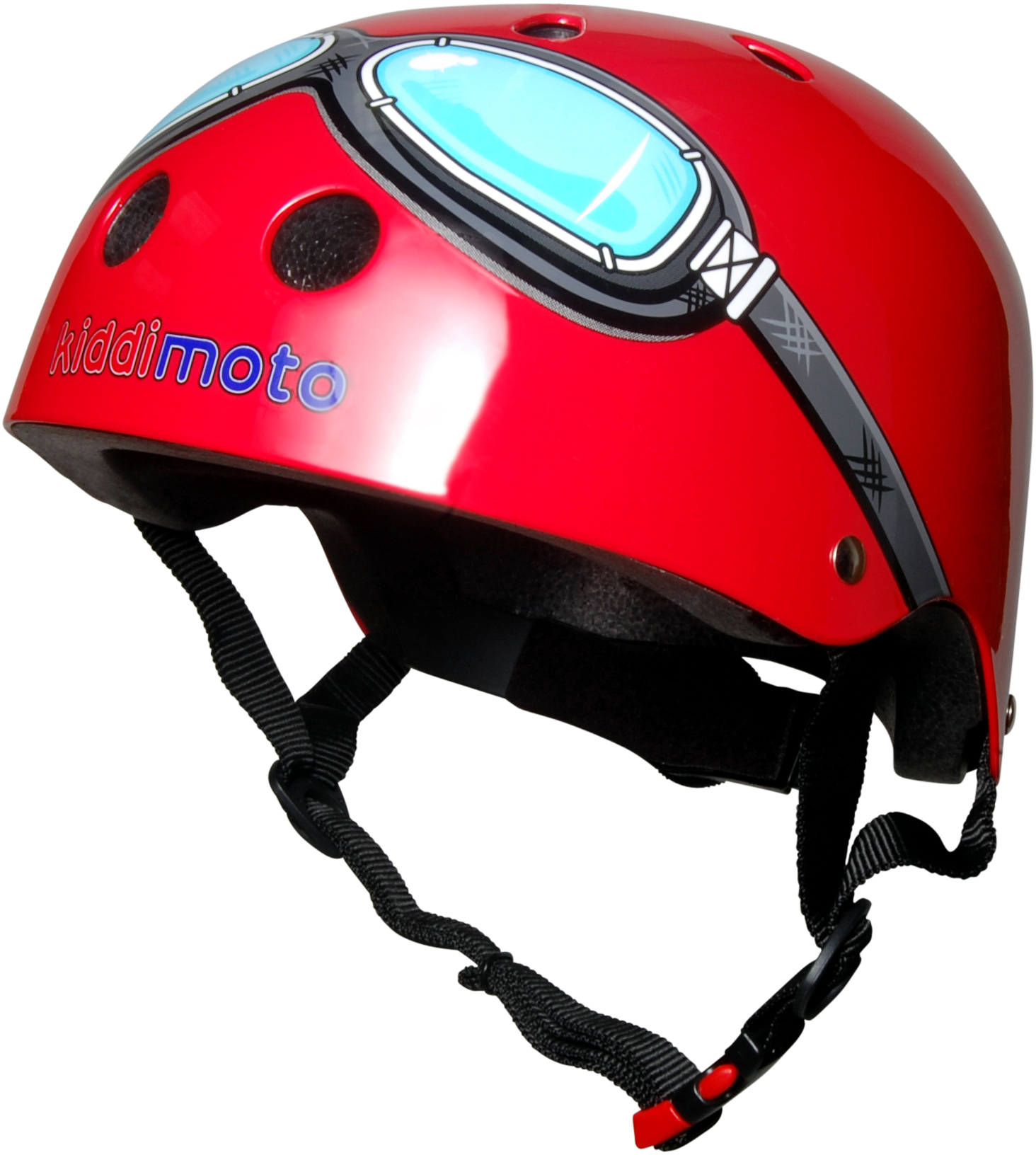 Casco Infantil Kiddimoto Red Goggle