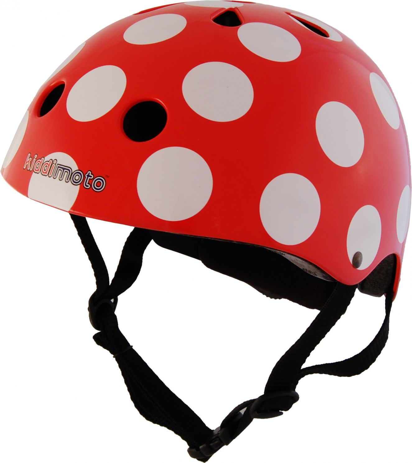 Casco Infantil Kiddimoto  Red Dotty