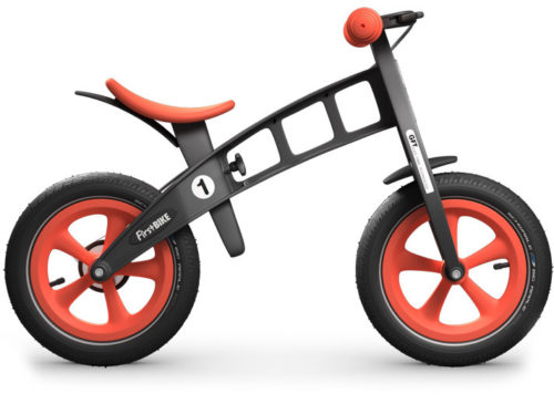 Bicicleta infantil FirstBike Racing con Freno  Limited Edition  Grey/Orange