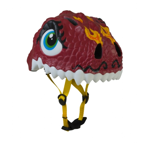 Casco Infantil Animales Crazy Safety  Dragon Rojo