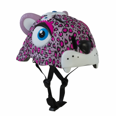Casco Infantil Animales Crazy Safety  Leoparda Rosa