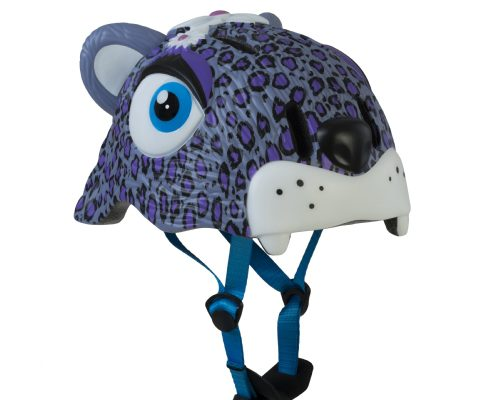 Casco Infantil Animales Crazy Safety Leoparda lila